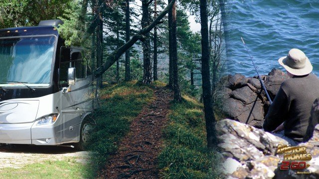 Motorhome Camping Trails Through The Forest And Fishing At Interlochen State Park