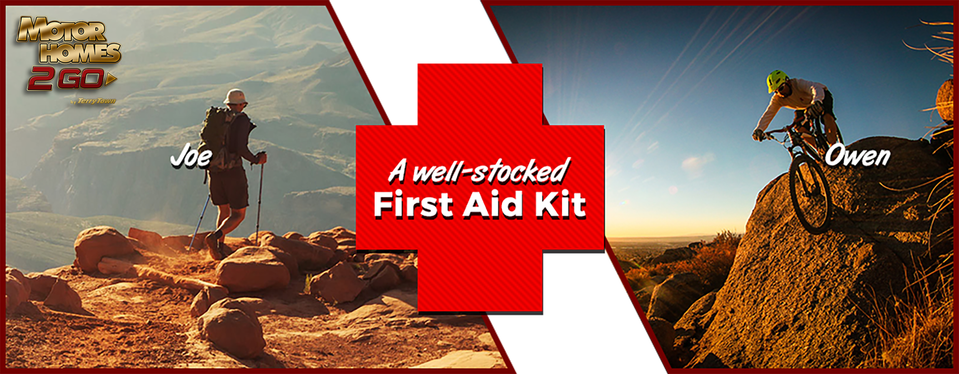 a well-stocked first-aid kit banner