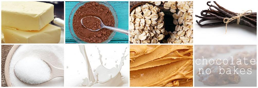 Chocolate No Bakes + Ingredients