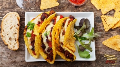 Tacos chips and salsa