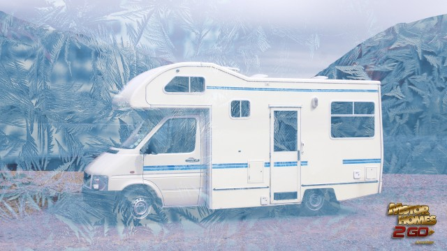 Frost Overlay On Image Of RV Motorhome