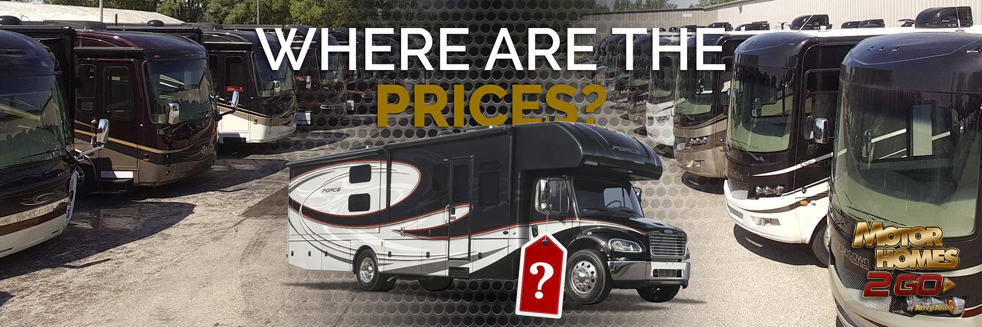 where are the prices - motorhomes Banner