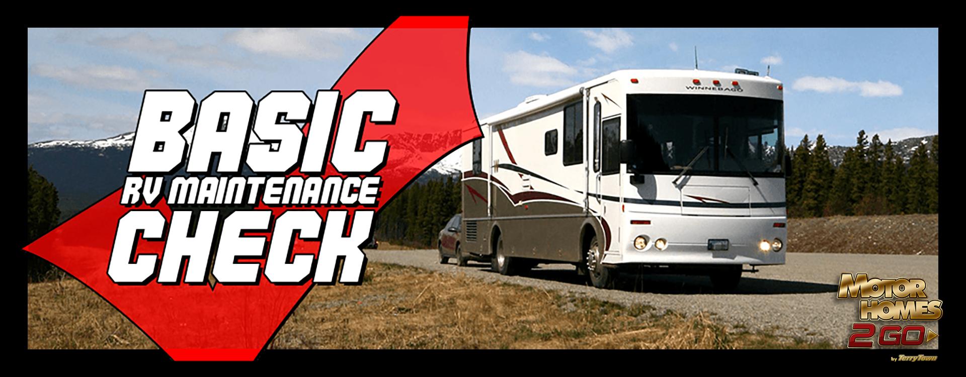 Basic RV maintenance check Banner
