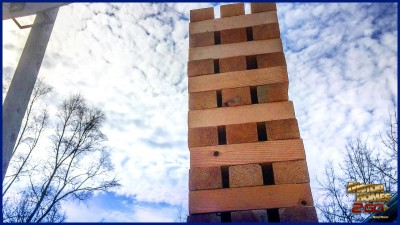 Giant Outdoor Jenga Feature