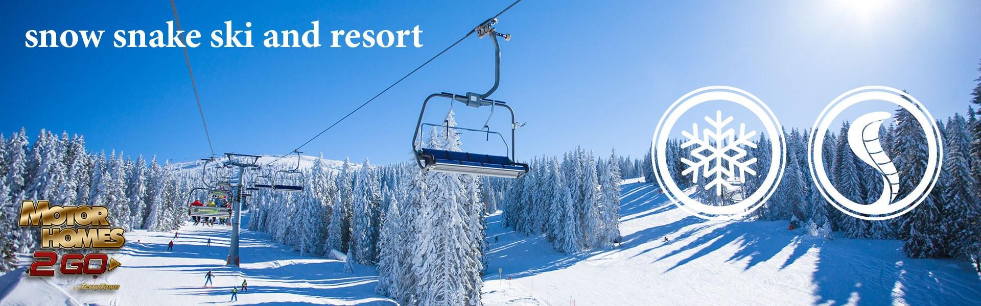 Michigan Snow Snake Ski and Resort Banner