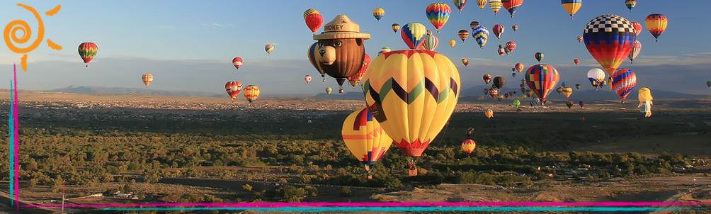 RV camper snowbirding destination Albuquerque, New Mexico balloon festival