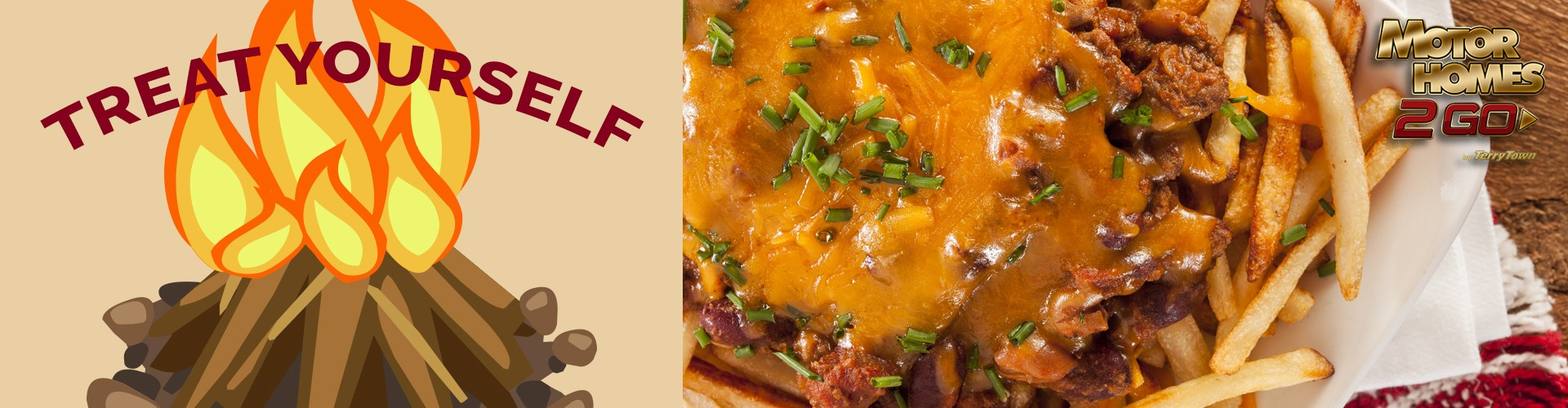 Treat yourself with campfire chili cheese fries