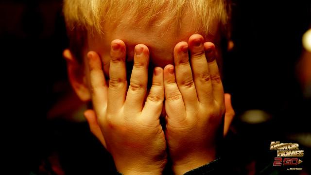 Kid Playing Hide And Seek In The Dark