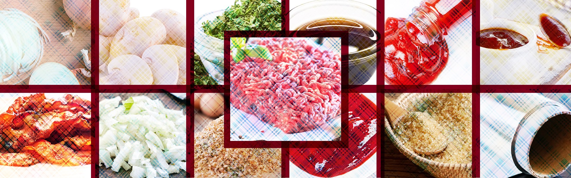 Ingredients to make Bacon wrapped onion meatballs
