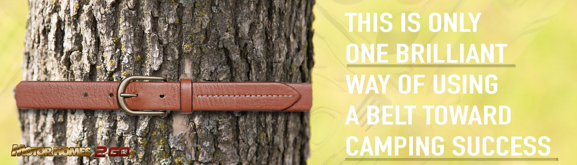 this is only one brilliant way of using a belt toward camping success