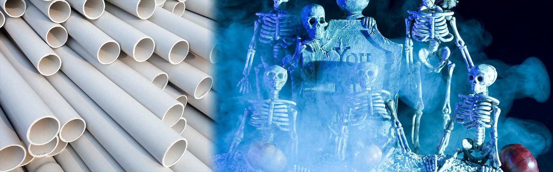 pvc pipe skeletons