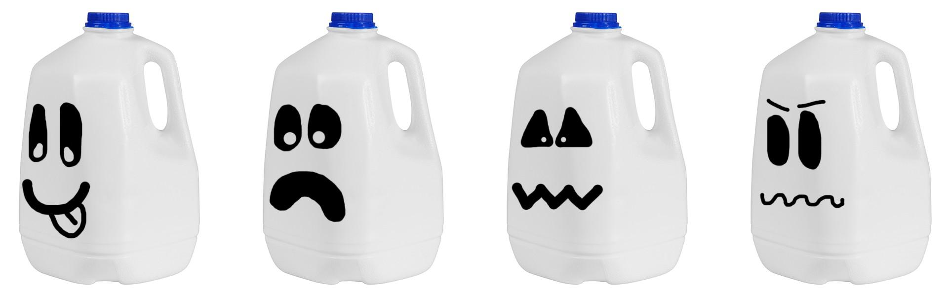 spooky milk jugs