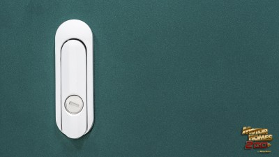 Teal rv storage lock