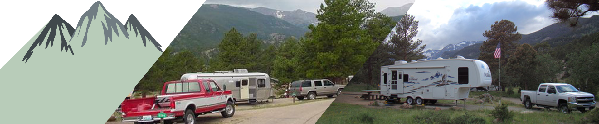 Moraine Park Campground in the Rocky Mountain National Park.