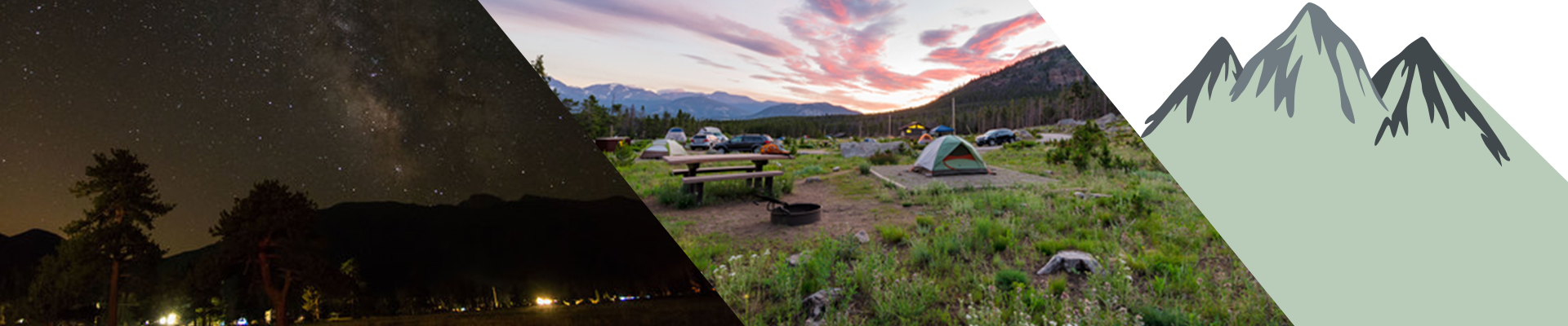 Glacier Basin Campground in the Rocky Mountain National Park.