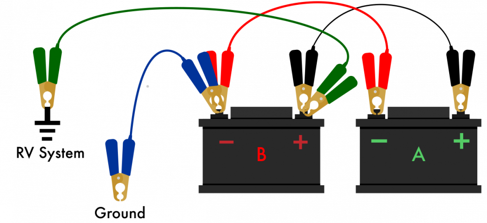 6v and 6v parallel batteries