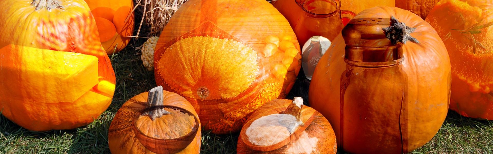 Ingredients to make pumpkin cornbread.