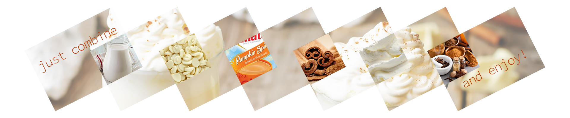 Just combine and enjoy! White Chocolate Pumpkin Spice Ingredients