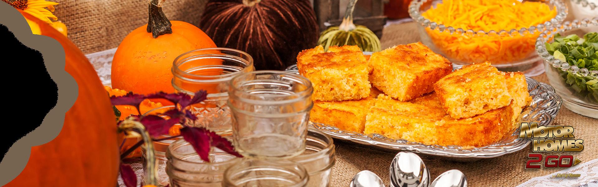 Take a bite out of pumpkin cornbread.