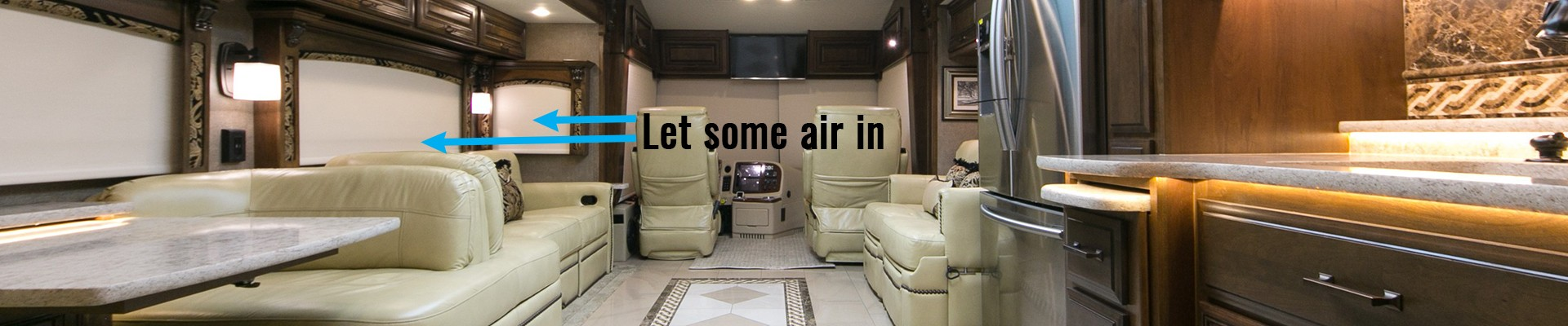 Keep it comfortable and open up a window or two to keep the air flow going in your RV.