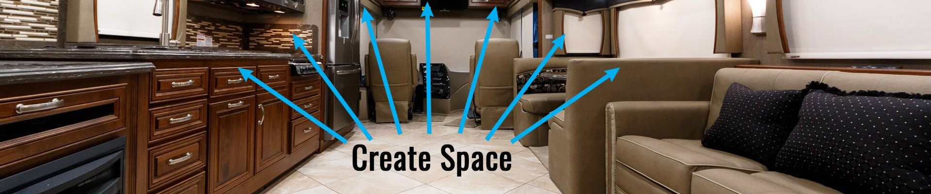 Rearrange the rooms in your RV to create space.