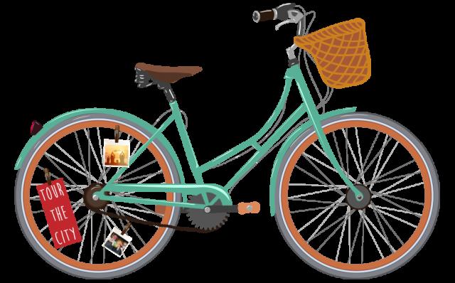 Bike lovers will love this creative way to display their last biking trip!
