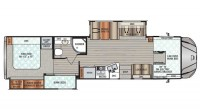 2018 Force 37BH Floor Plan