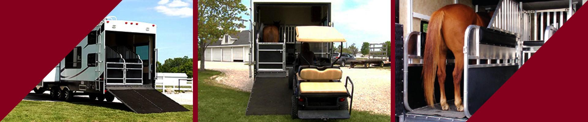 Transform your toy hauler RV into a horse trailer.