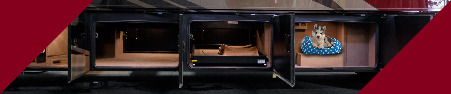 Turn addition basement space into a pet kennel in your RV.