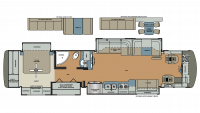 2017 Berkshire XLT 43B Floor Plan