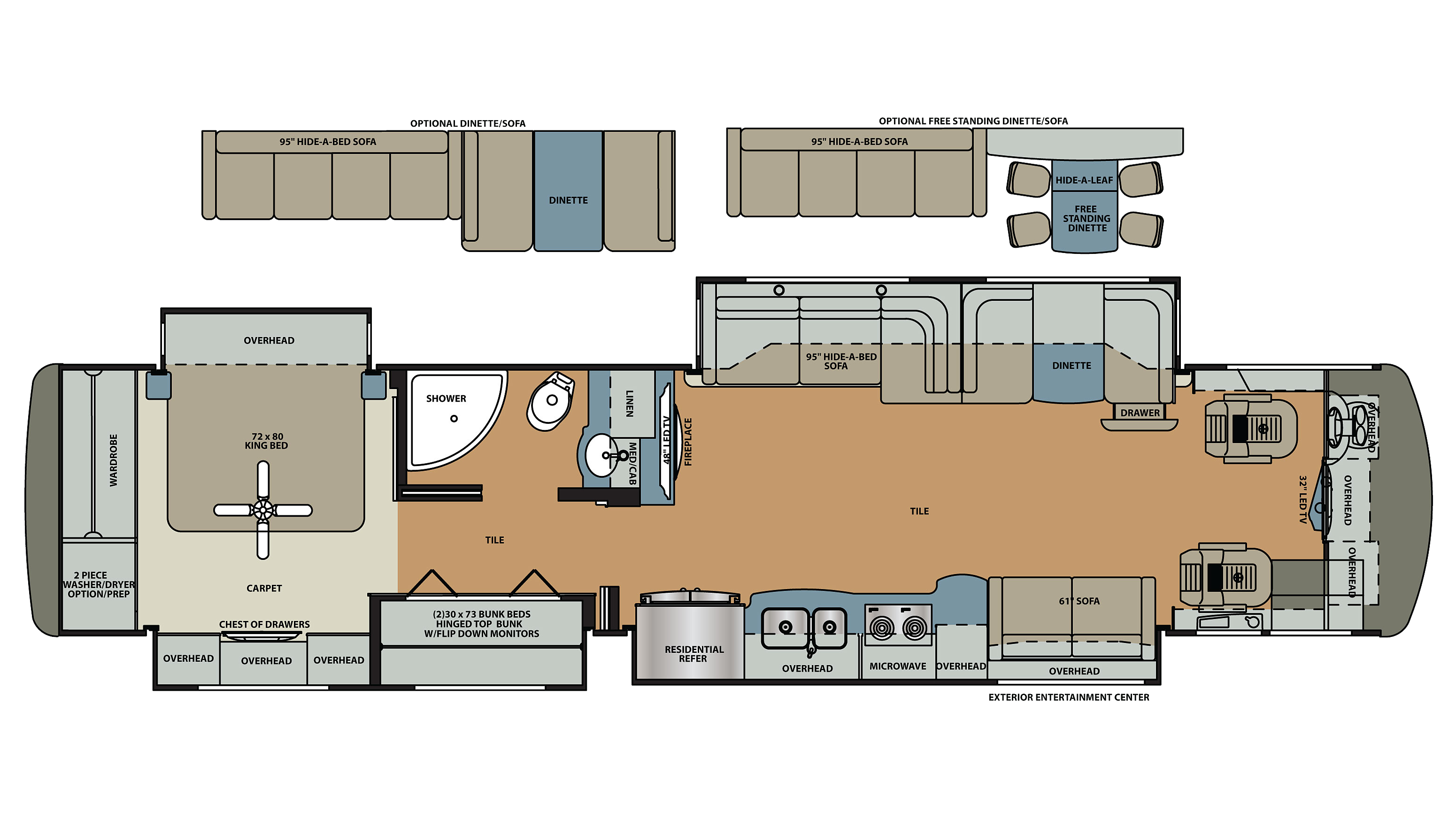 Camper Floor Plans With Bunk Beds Gallery Home Fixtures