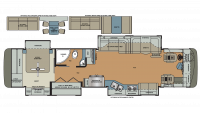 2018 Berkshire XL 40BH-380 Floor Plan