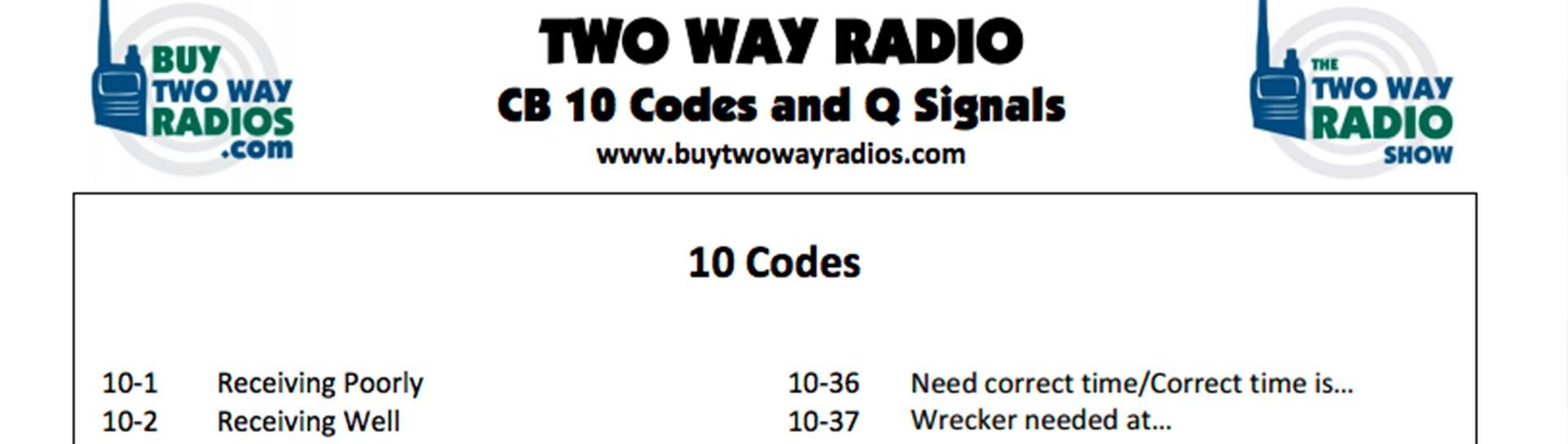 CB Radio Codes