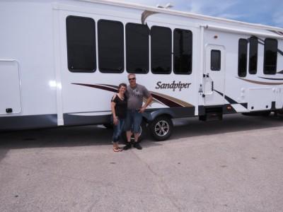 Terry Hodge of Merkel, TX with their Sandpiper Destination 385FKBH