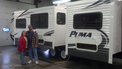 Mike  Svoboda of Palos Park, IL with their Puma 32FKSL