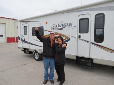 The Fords Houser of Bloomington, IL with their Eagle HT 26.5RLS
