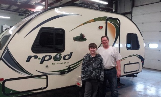 Randy Johnson of Maple Grove, MN with their R-Pod 176