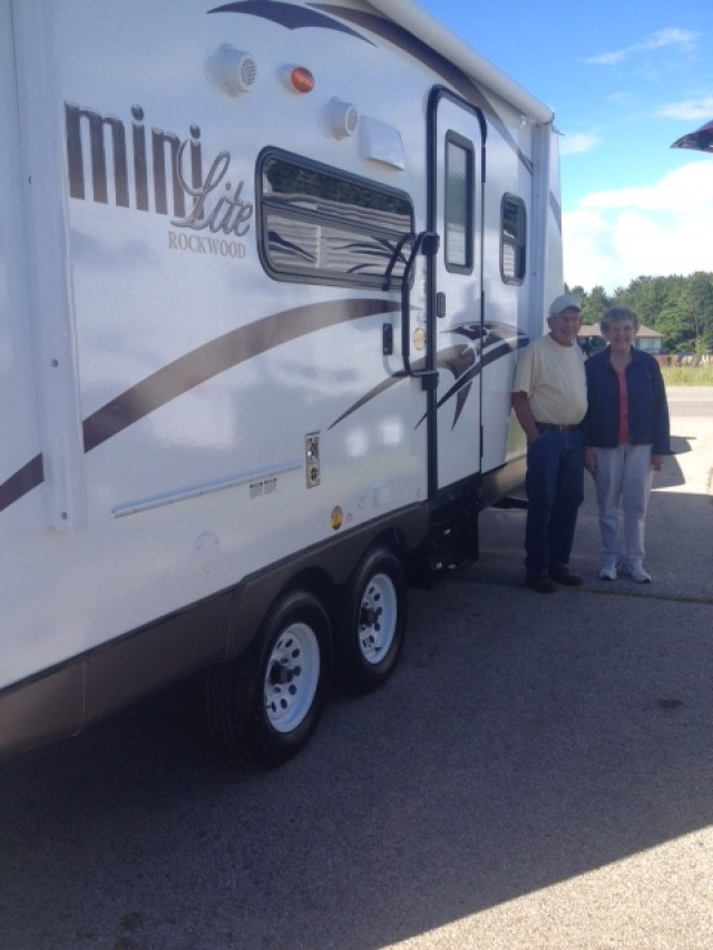 Orville Bugni of Merkel, TX with their Rockwood Mini Lite 2104S