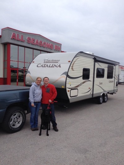 Rosanna Ortega of Ravenna, MI with their Catalina 253RKS