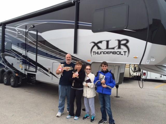 Alejandro Cowlowski of Cortusville, GA with their XLR Thunderbolt 35X12HP