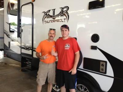 Brad White of Colorado City, CO with their XLR Thunderbolt 340X12HP
