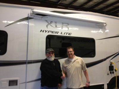 Terry of Rockwood, NL with their XLR Hyper Lite 31FDK