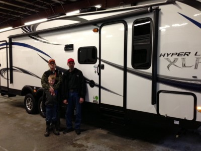 Ernest Clapp of Kalkaska, NL with their XLR Hyper Lite 31FDK