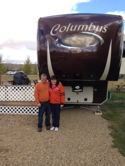 Blaine Freeman of Drumheller, AB with their Columbus 320RS