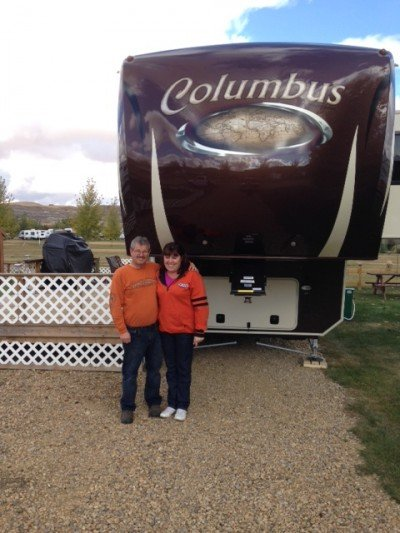 Blaine Freeman of Drumheller, AB with their Columbus 320RS