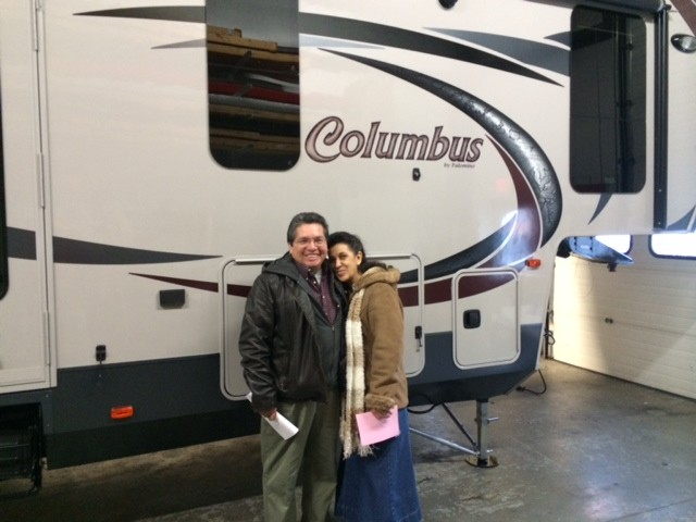 The Olejniczak Family Rick of Greenleaf, ID with their Columbus 320RS