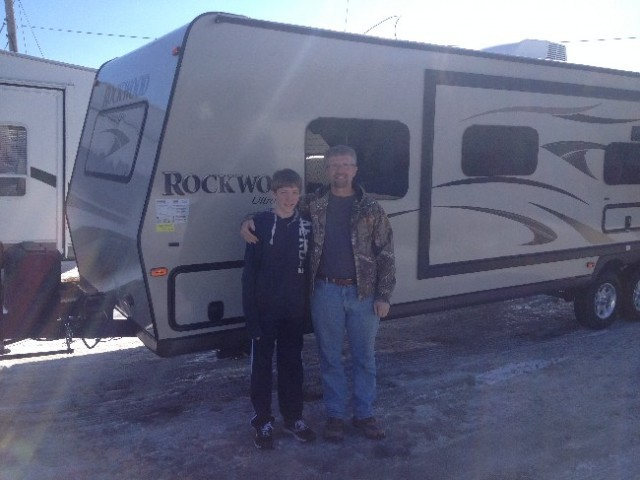 Kevin Strand of Polk City, NT with their Rockwood Ultra Lite 2604WS