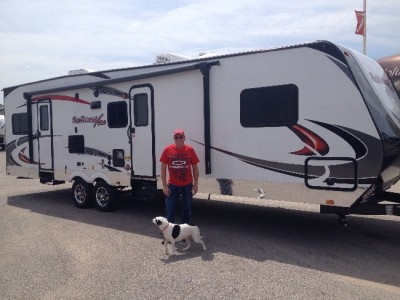 David  Wight of Maryville, AB with their Fun Finder 210UDS