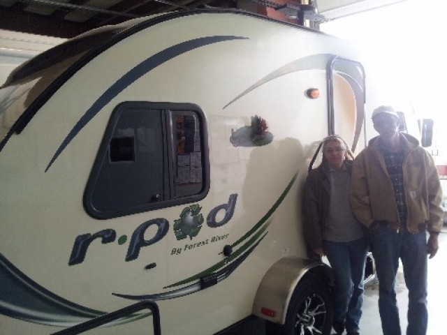 The Sadlers Graham of Branson, ID with their R-Pod 176