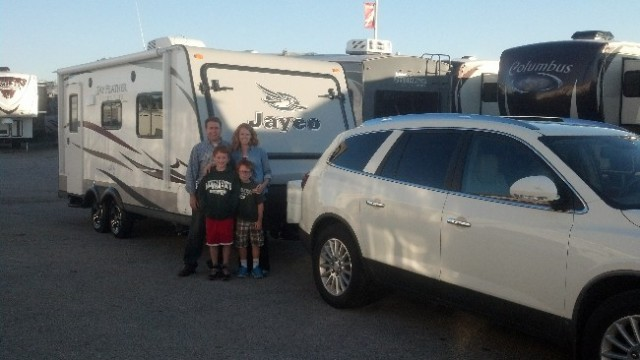 The Malaski Family Burdine of Hamilton, MI with their Jay Feather Ultra Lite X23F